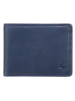 Синий кожаный портмоне Visconti PLR72 ST/BL/OR Segesta c RFID