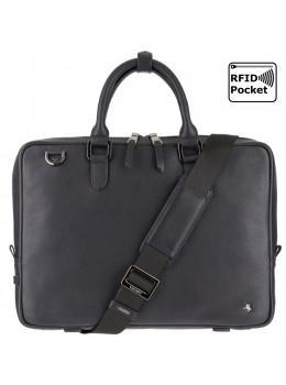 Чёрная стильная сумка Visconti PLT10 BLK Royce 13