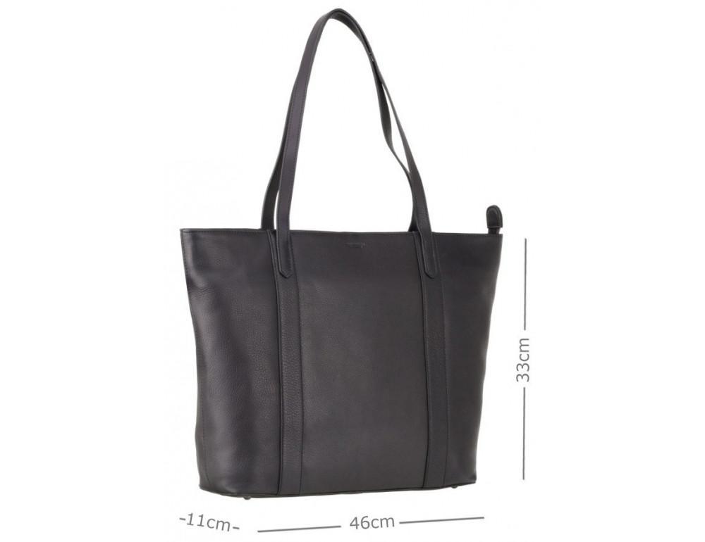Чорна жіноча сумка Visconti PLT20 BLK Sophia 13 Laptop - Фотографія № 2