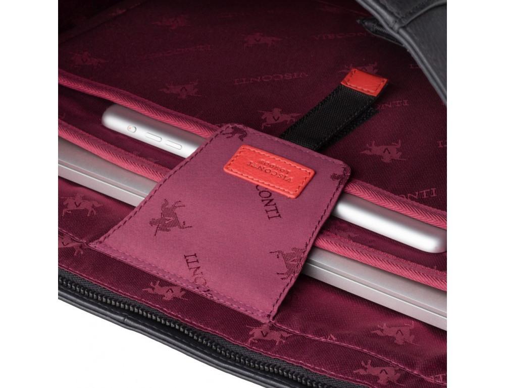 Чорна жіноча сумка Visconti PLT20 BLK Sophia 13 Laptop - Фотографія № 8