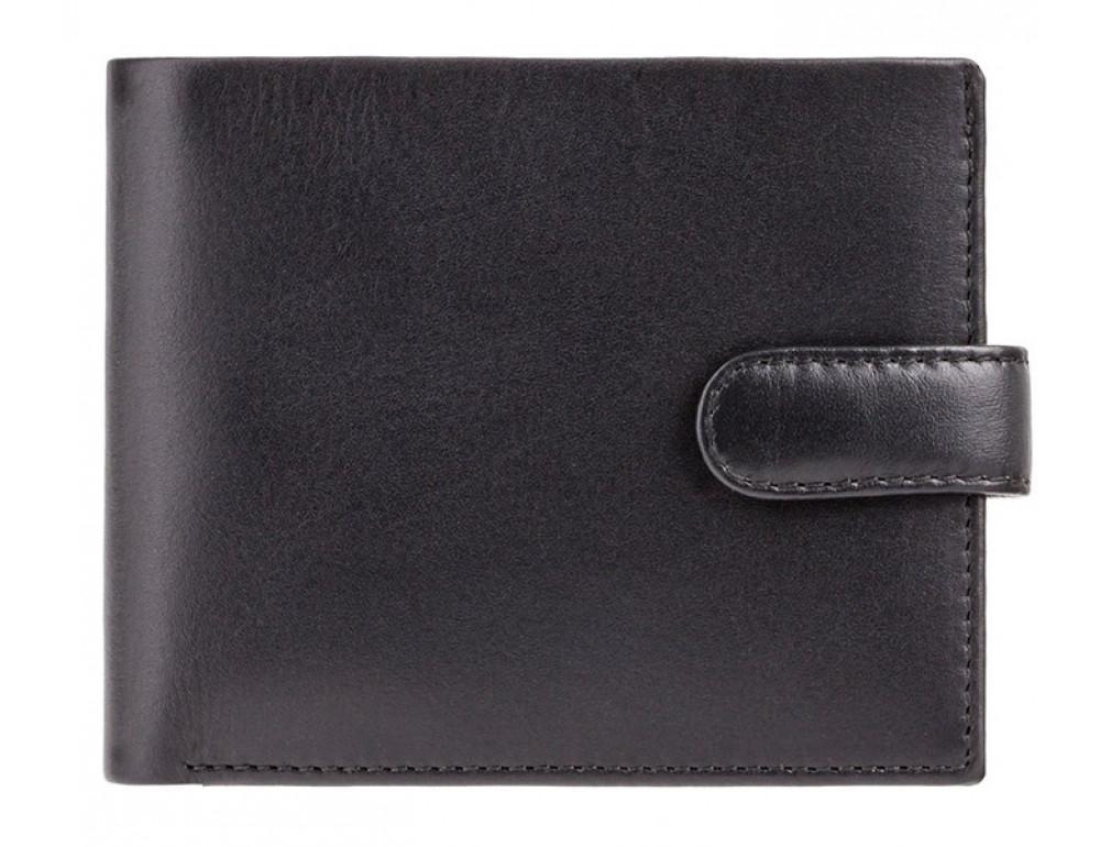 Мужской кожаный кошелек Visconti PM100 BK/CB Vincent чёрный - Фото № 1