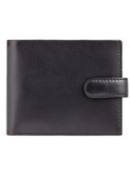 Мужской кожаный кошелек Visconti PM100 BK/CB Vincent чёрный