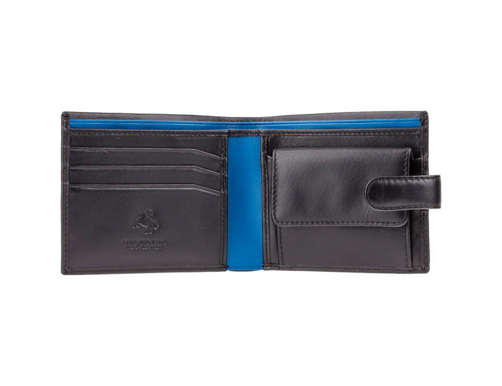 Мужской кожаный кошелек Visconti PM100 BK/CB Vincent чёрный - Фото № 2