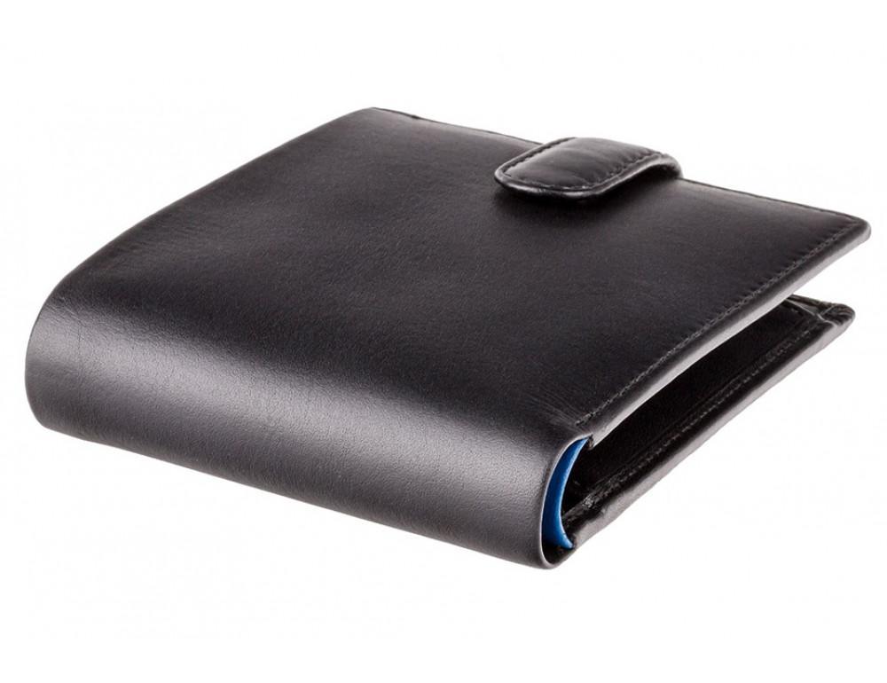 Мужской кожаный кошелек Visconti PM100 BK/CB Vincent чёрный - Фото № 5