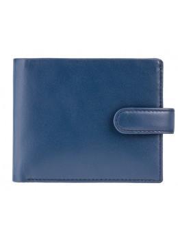 Мужской кожаный кошелек Visconti PM100 BL/MT синий с оранжевым