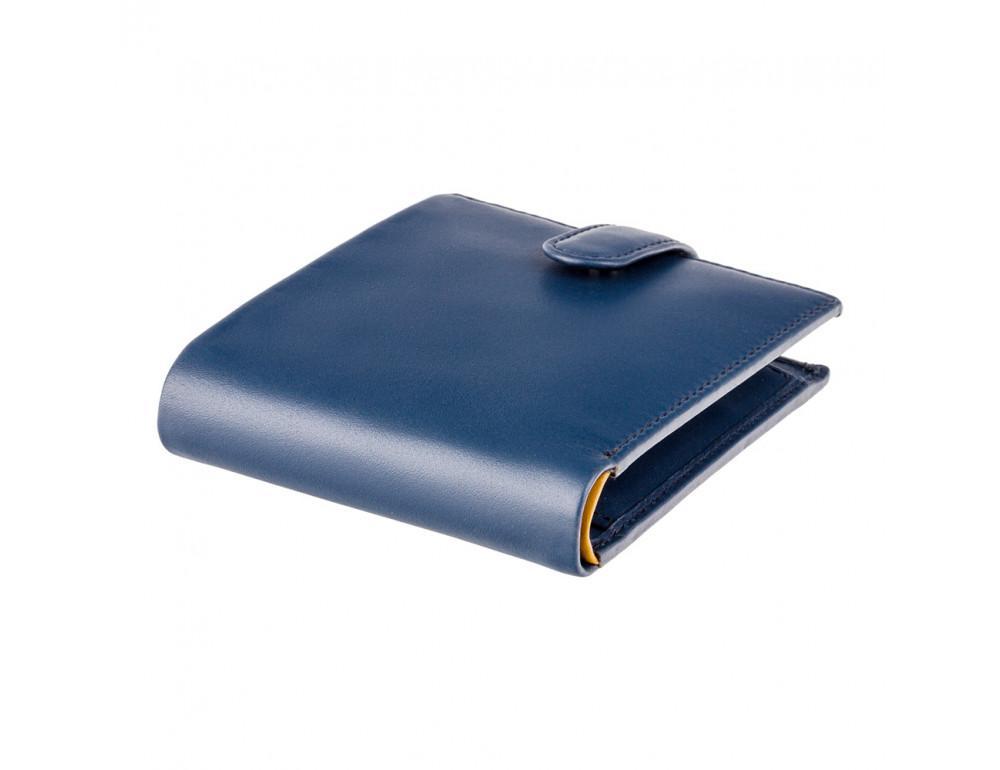 Мужской кожаный кошелек Visconti PM100 BL/MT синий с оранжевым - Фото № 3