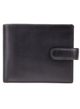 Чёрный кошелек мужской Visconti PM102 BLK/BLUE Leonardo c RFID