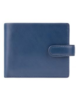 Синий мужской портмоне Visconti PM102 BLUE/MUST Leonardo c RFID