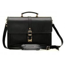 Черный кожаный портфель мужской Manufatto РП-10