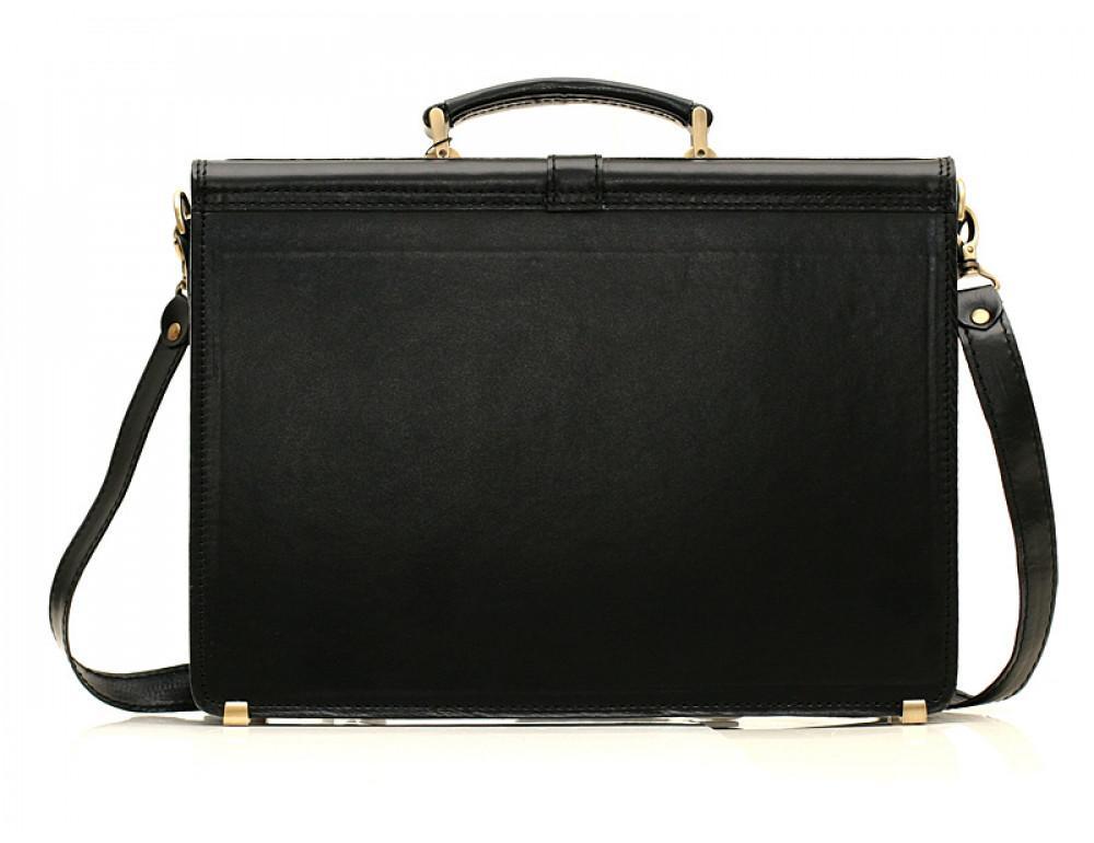 Черный кожаный портфель мужской Manufatto РП-10 - Фото № 2