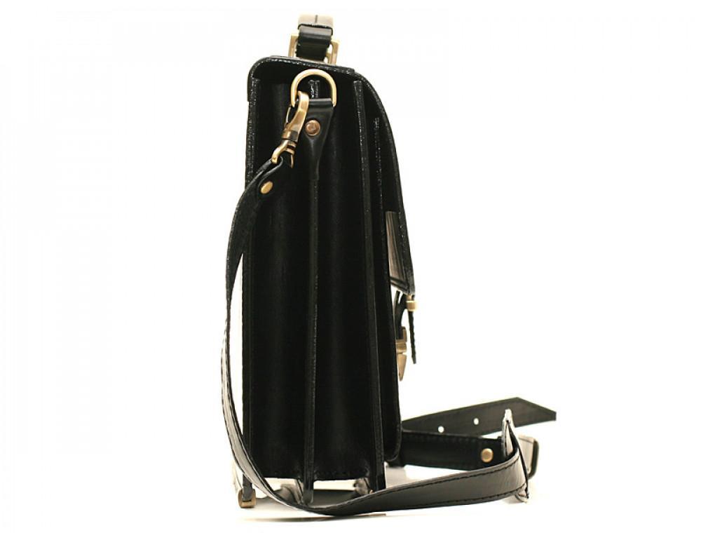 Черный кожаный портфель мужской Manufatto РП-10 - Фото № 4