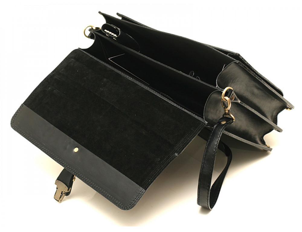 Черный кожаный портфель мужской Manufatto РП-10 - Фото № 5