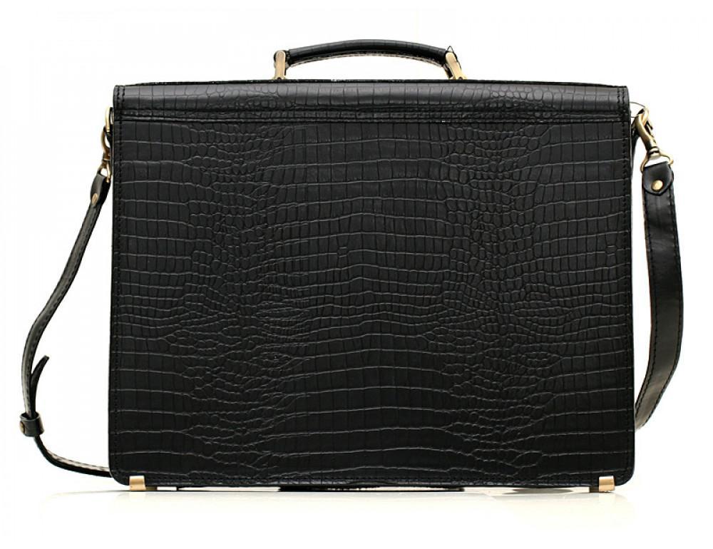 Мужской кожаный портфель Manufatto РВМ-1 кроко - Фото № 2