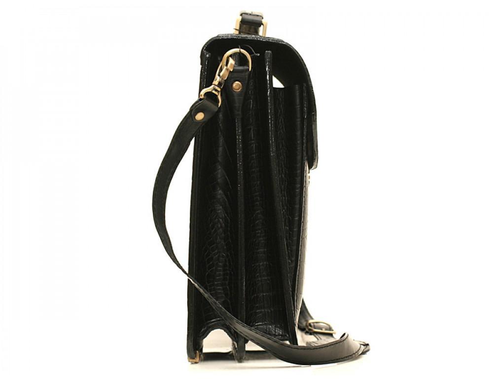 Мужской кожаный портфель Manufatto РВМ-1 кроко - Фото № 3