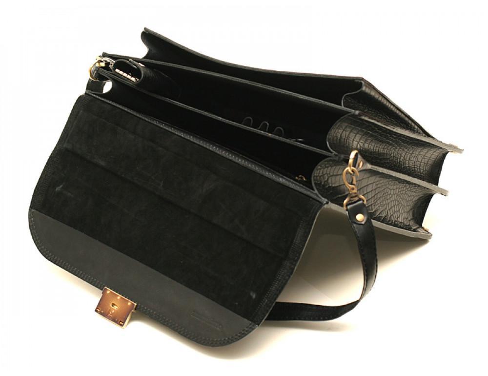 Мужской кожаный портфель Manufatto РВМ-1 кроко - Фото № 4