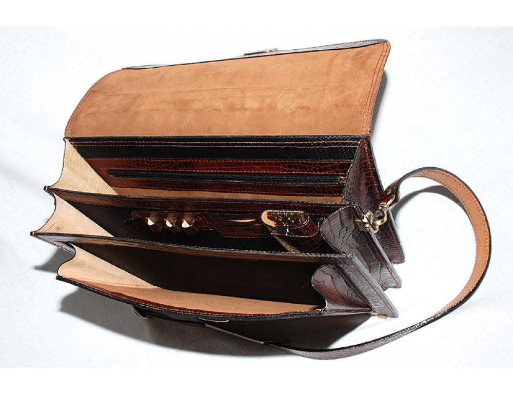 Коричневый мужской портфель Manufatto РВМ-1C кроко - Фото № 2
