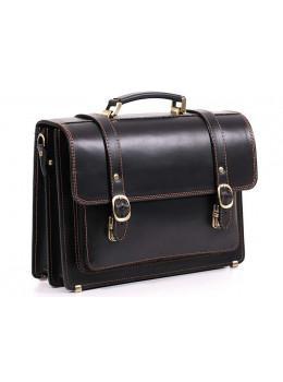Чорний чоловічий портфель з натуральної шкіри Manufatto 10088
