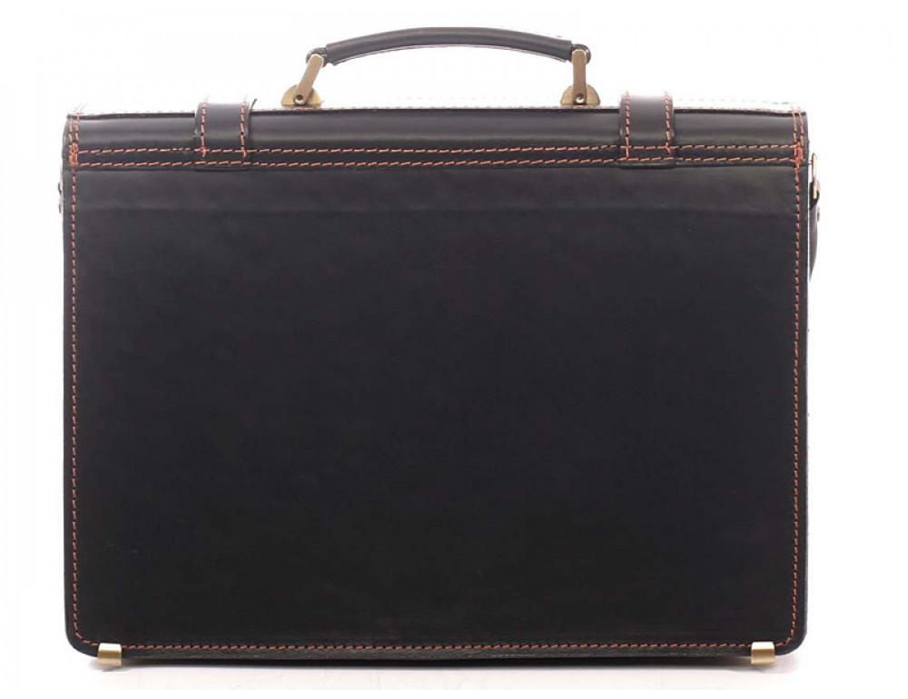 Черный мужской портфель из натуральной кожи Manufatto 10088 - Фото № 2