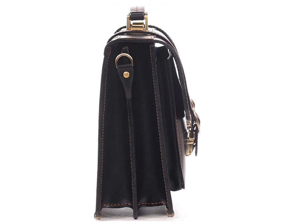 Черный мужской портфель из натуральной кожи Manufatto 10088 - Фото № 4