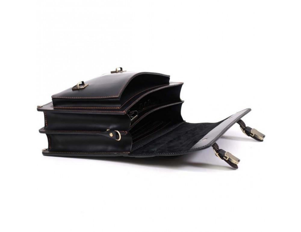 Черный мужской портфель из натуральной кожи Manufatto 10088 - Фото № 5