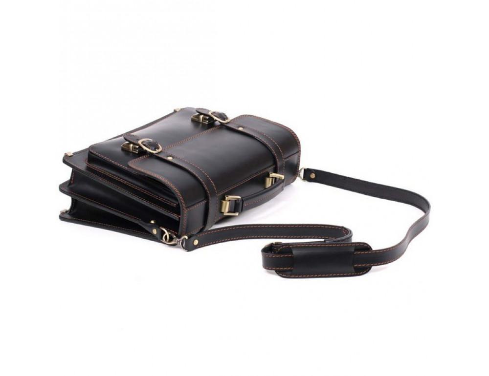 Черный мужской портфель из натуральной кожи Manufatto 10088 - Фото № 7