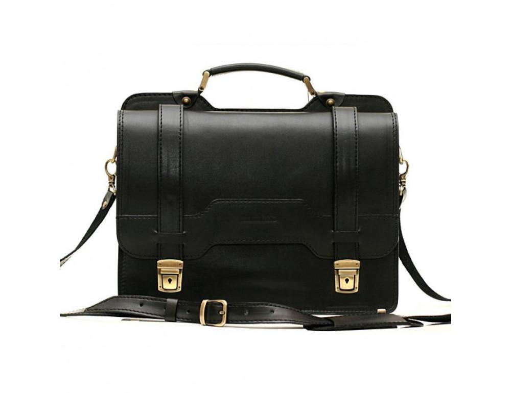 Черный классический мужской портфель Manufatto СПС-3 - Фото № 1