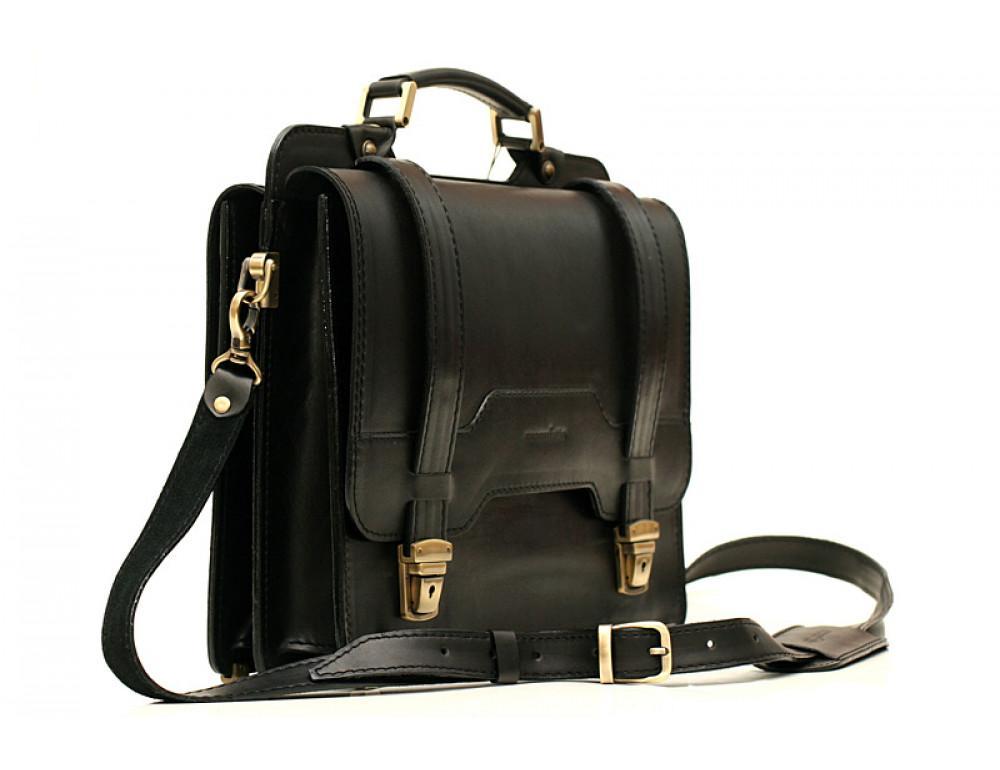 Черный классический мужской портфель Manufatto СПС-3 - Фото № 2