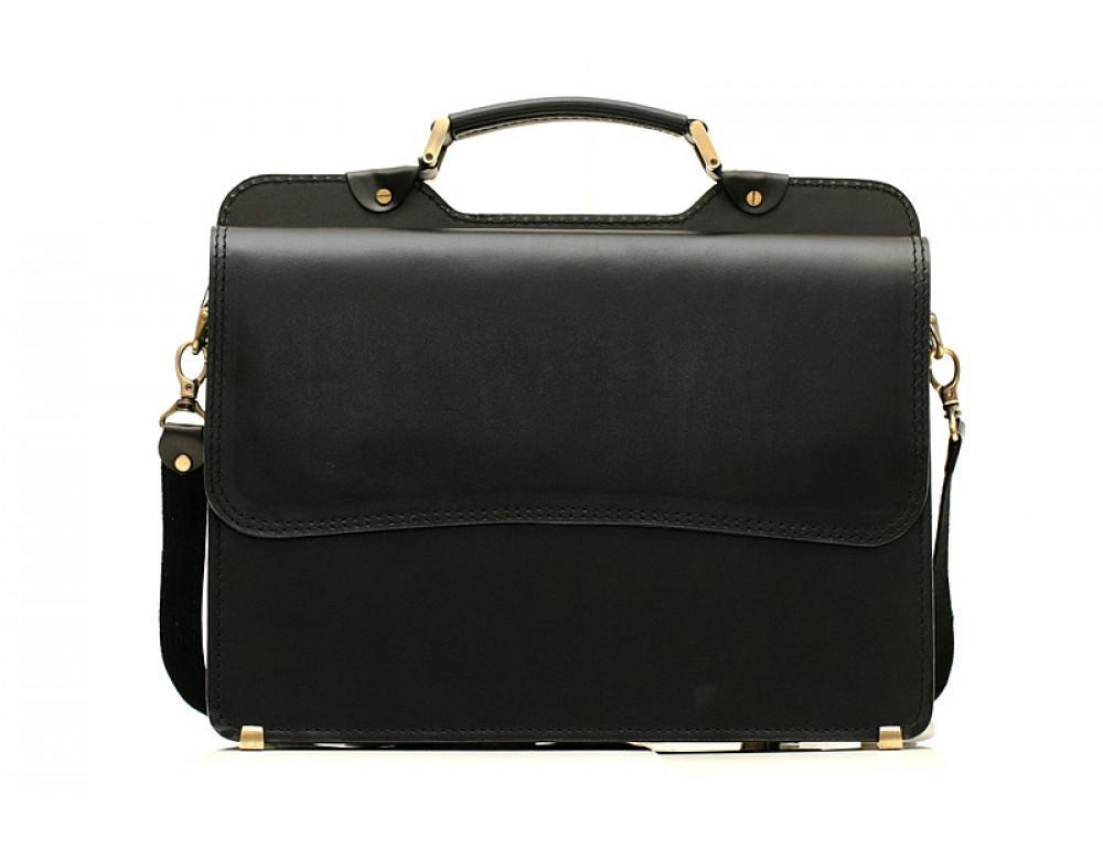 Черный классический мужской портфель Manufatto СПС-3 - Фото № 3