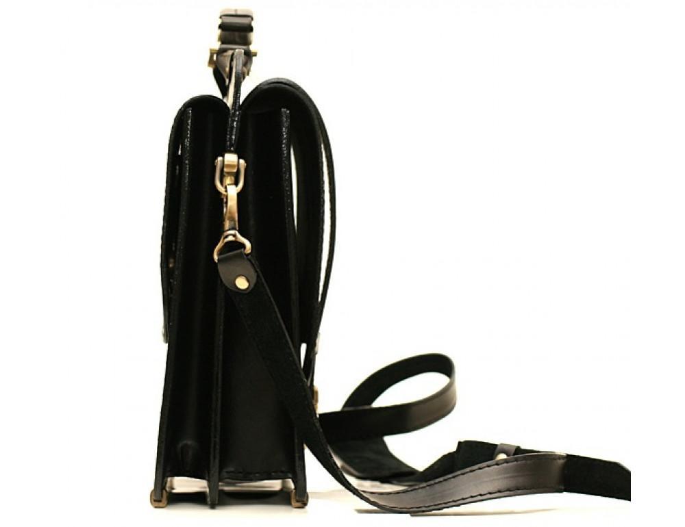 Черный классический мужской портфель Manufatto СПС-3 - Фото № 4