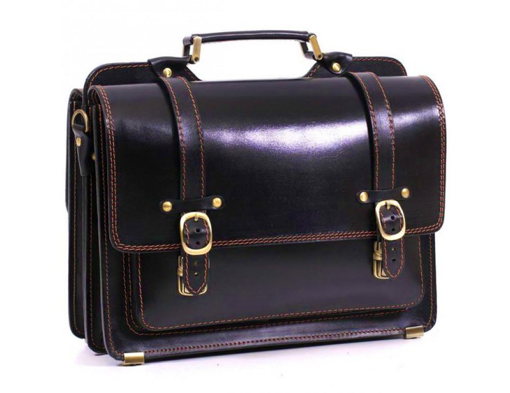 Черный портфель мужской Manufatto СПС-4 AC - Фото № 1