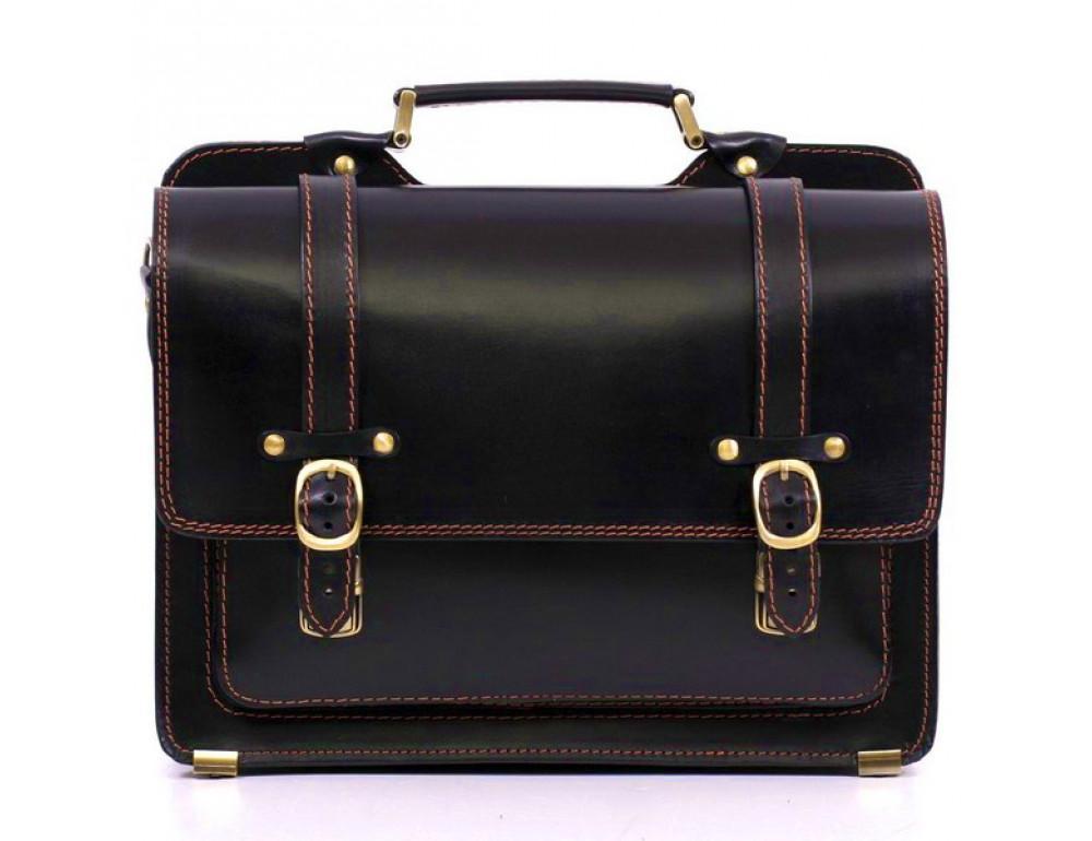 Черный портфель мужской Manufatto СПС-4 AC - Фото № 2
