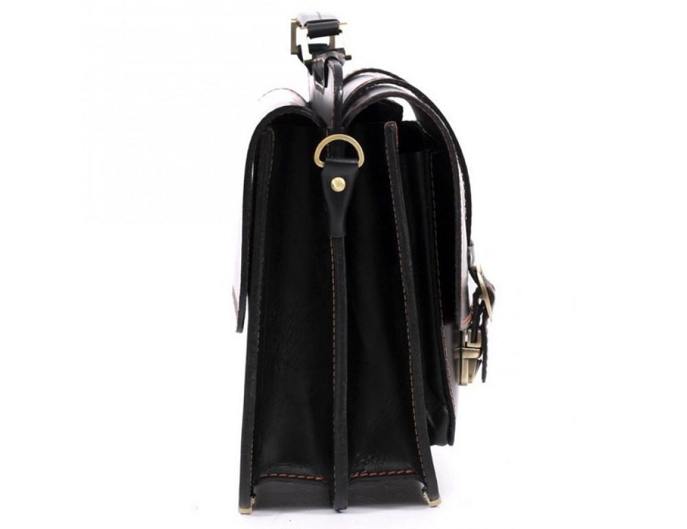 Черный портфель мужской Manufatto СПС-4 AC - Фото № 4