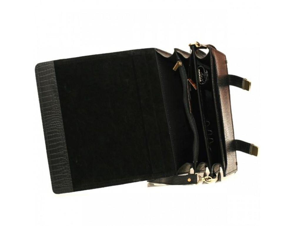 Мужской вместительный кожаный портфель Manufatto ТМ-1 кроко - Фото № 5