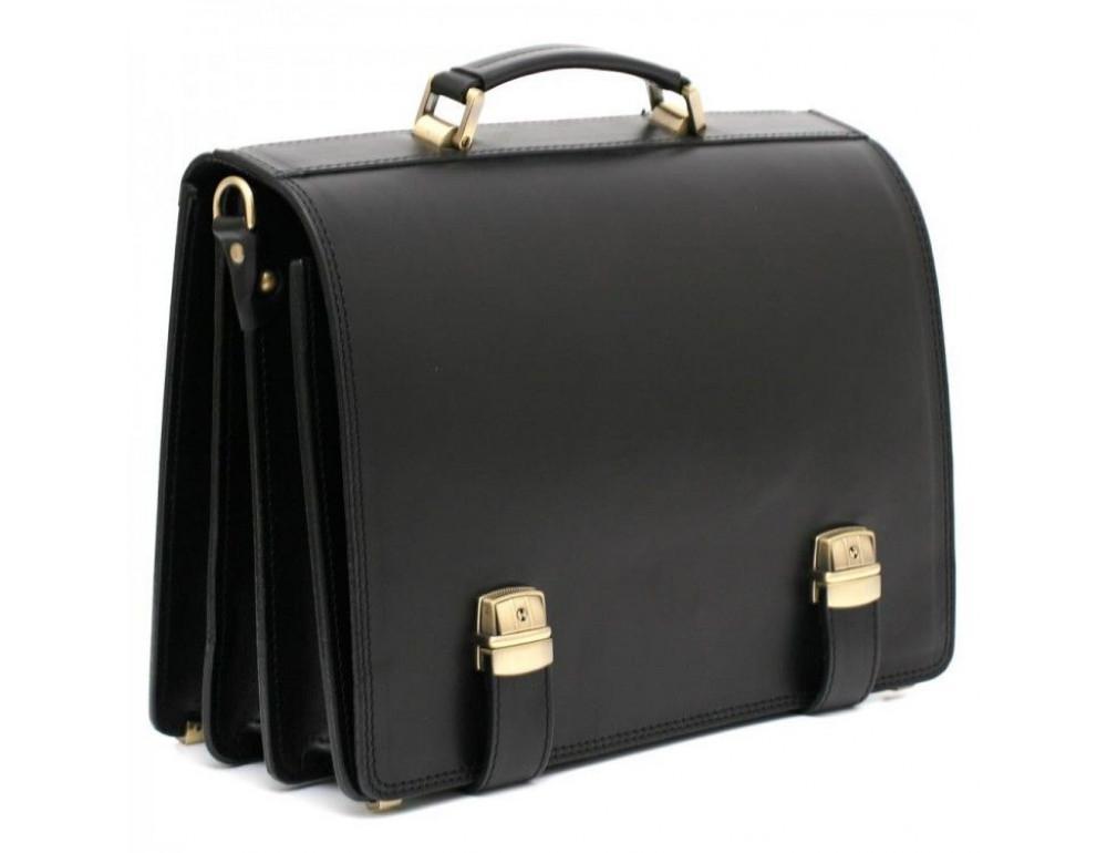 Чёрный каркасный портфель мужской Manufatto ТМ-1 - Фото № 1