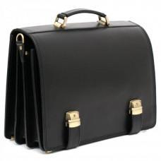 Чорний каркасний портфель чоловічий Manufatto ТМ-1
