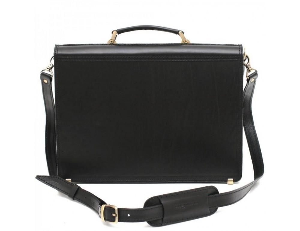 Чёрный каркасный портфель мужской Manufatto ТМ-1 - Фото № 4