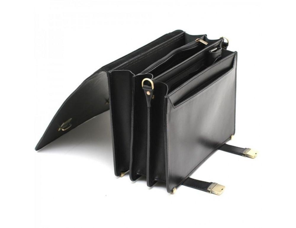 Чёрный каркасный портфель мужской Manufatto ТМ-1 - Фото № 5