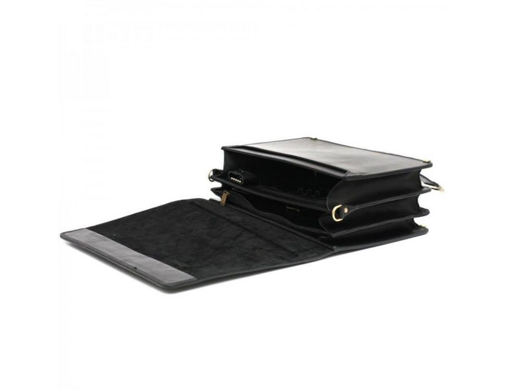 Чёрный каркасный портфель мужской Manufatto ТМ-1 - Фото № 6