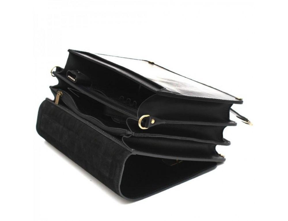 Чёрный каркасный портфель мужской Manufatto ТМ-1 - Фото № 7