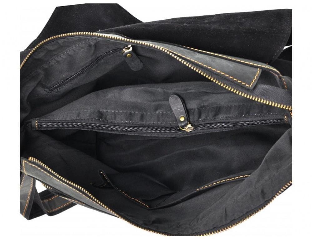 Винтажная сумка через плечо TIDING BAG 6002LA-2 Чёрная - Фото № 8