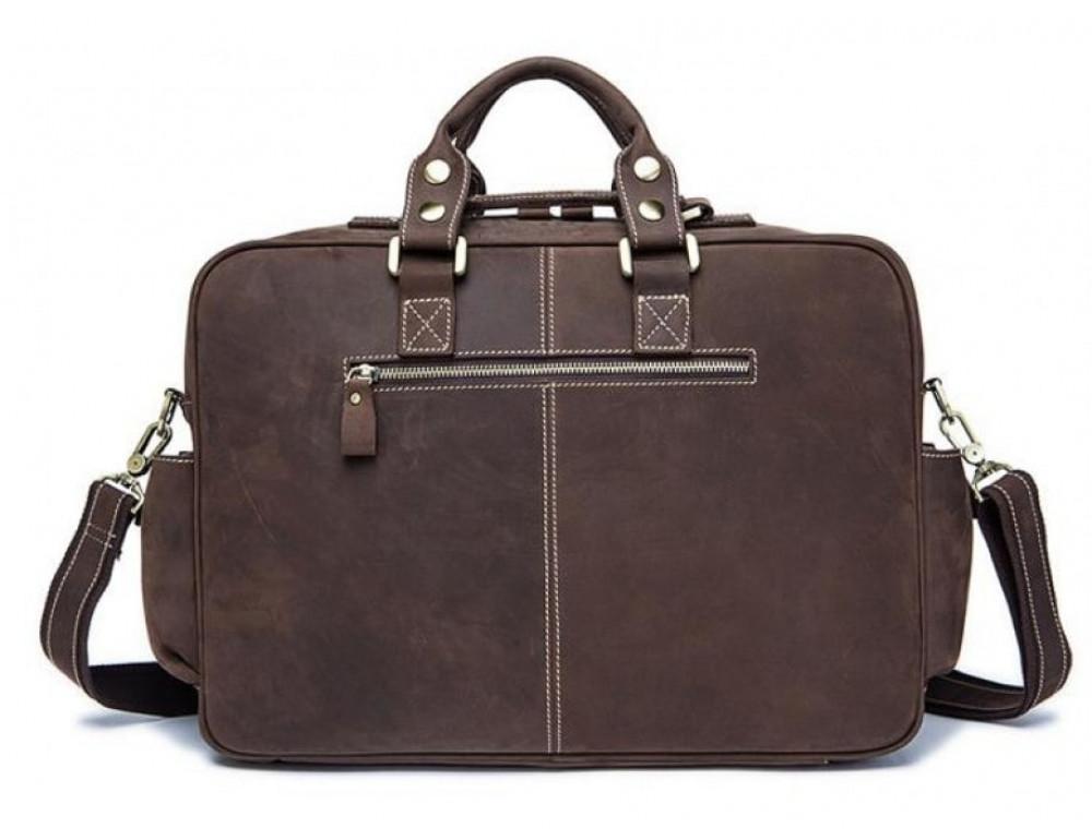 Мужская сумка TIDING BAG 7028B коричневая - Фото № 2