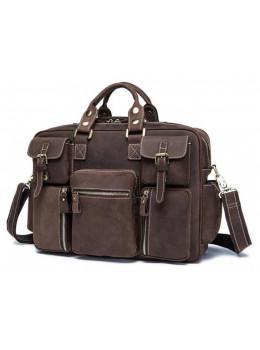 Мужская сумка TIDING BAG 7028B коричневая