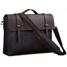 Чоловічий шкіряний портфель TIDING BAG 7082R-1 коричневий