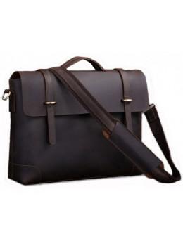 Мужской кожаный портфель TIDING BAG 7082R-1 коричневая