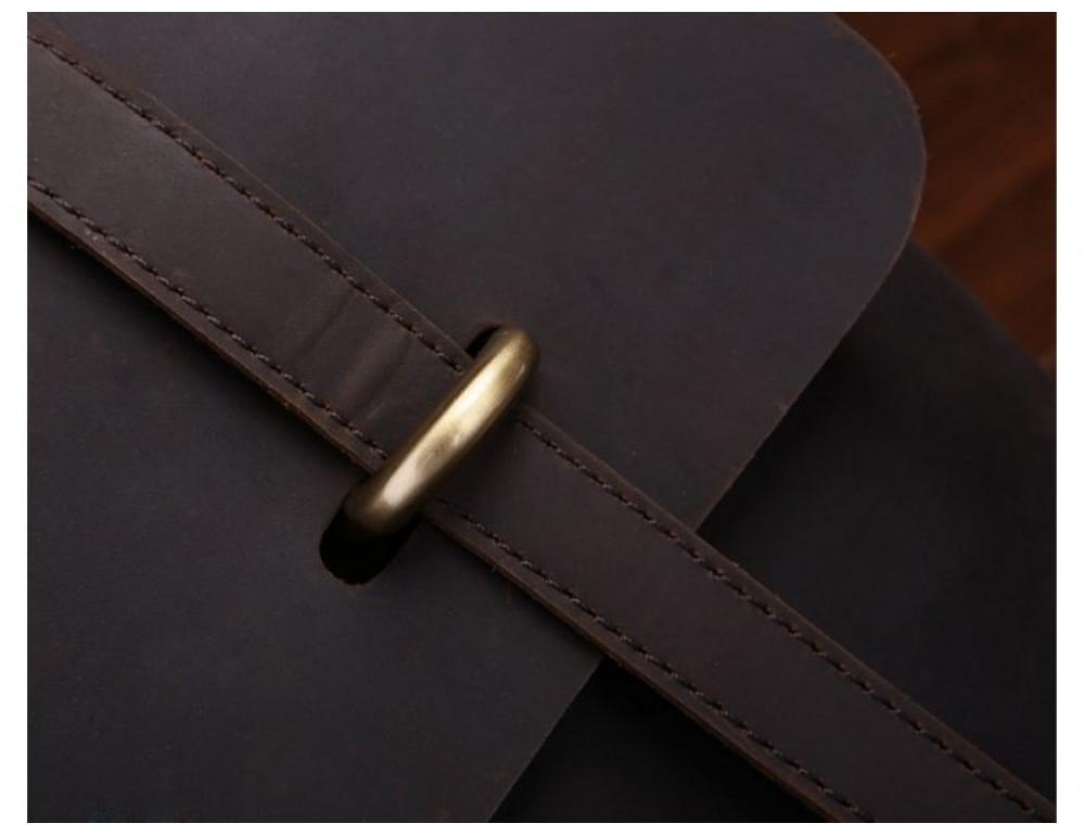 Мужской кожаный портфель TIDING BAG 7082R-1 коричневая - Фото № 7