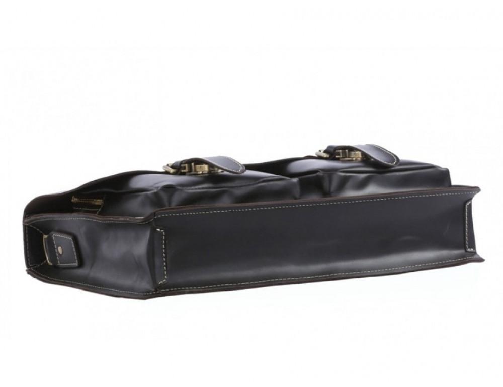 Кожаный портфель TIDING BAG 7105A чёрный - Фото № 3