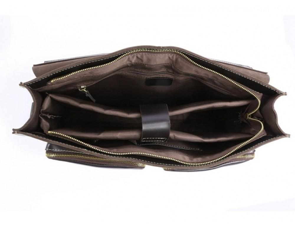Кожаный портфель TIDING BAG 7105A чёрный - Фото № 4