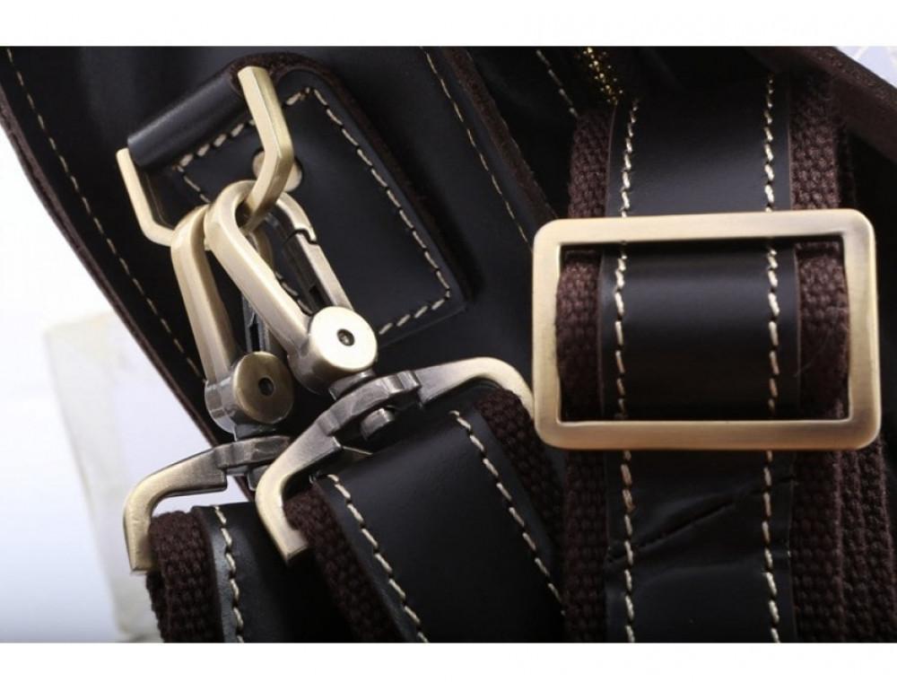 Кожаный портфель TIDING BAG 7105A чёрный - Фото № 13
