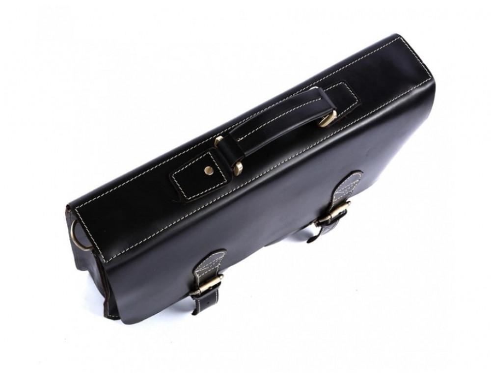 Кожаный портфель TIDING BAG 7105A чёрный - Фото № 12