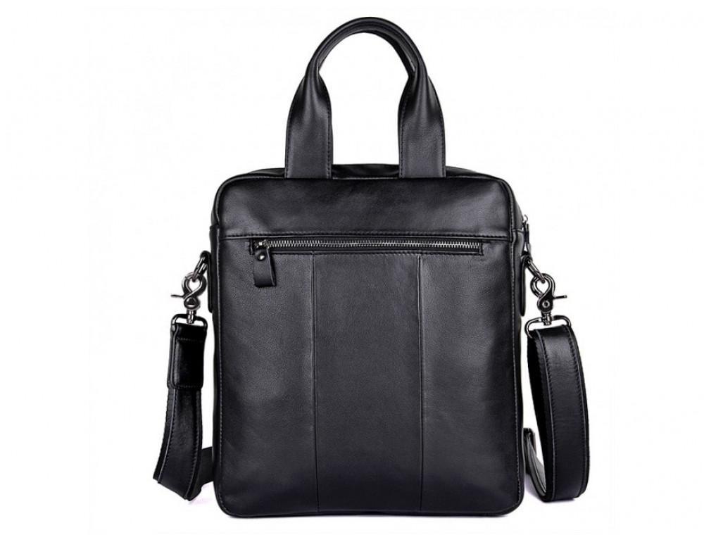 Мужская кожаная сумка-мессенджер TIDING BAG 7266A чёрный - Фото № 3